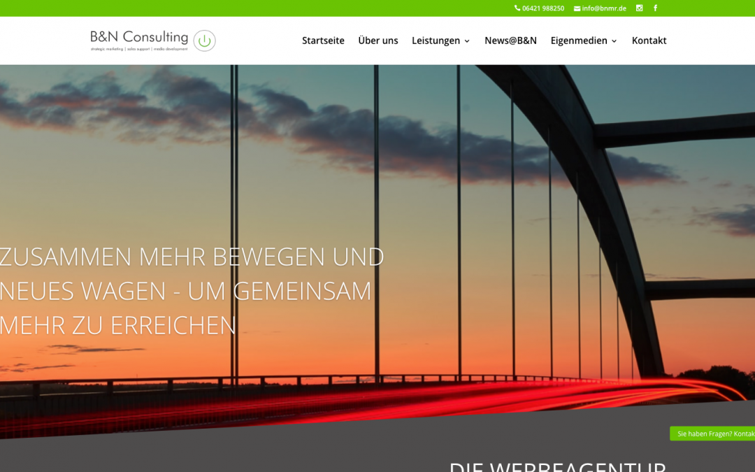 Unsere neue Webseite online