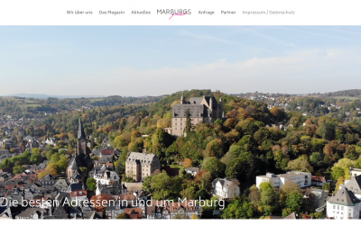 Marburgs finest Webseite online