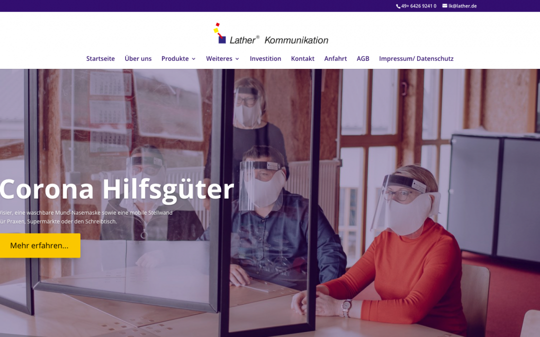 Relaunch Webseite lather.gmbh