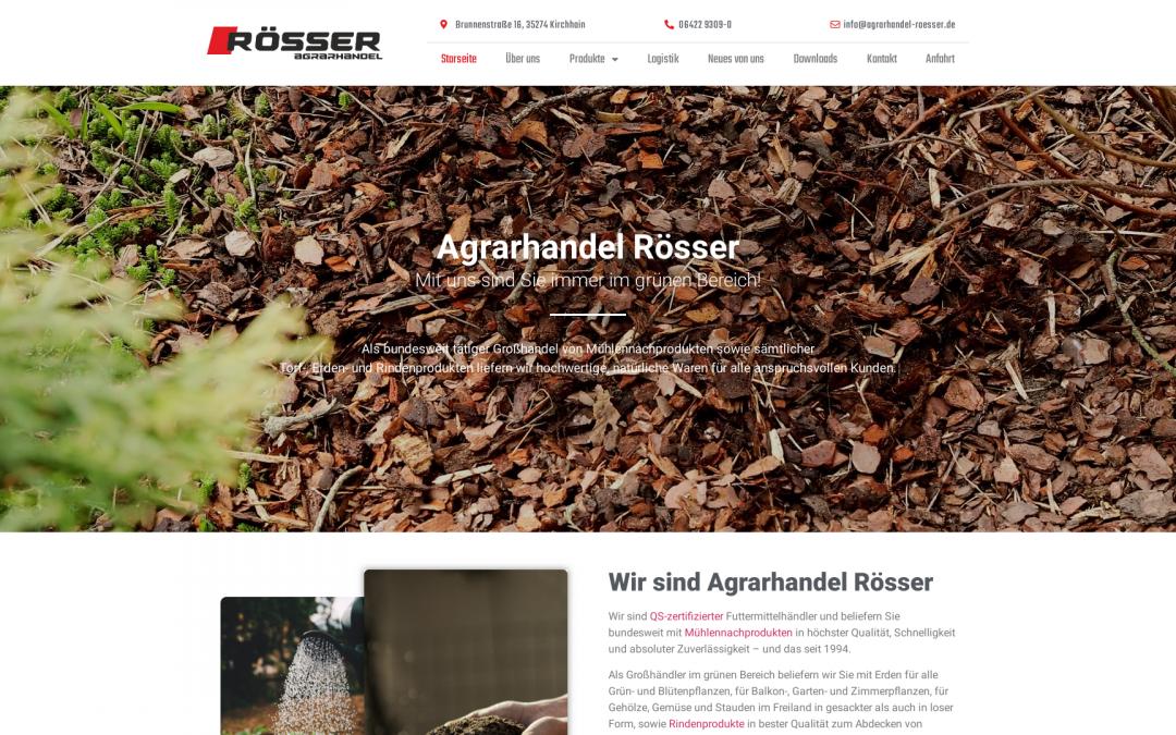 Web Redesign Agrarhandel Rösser