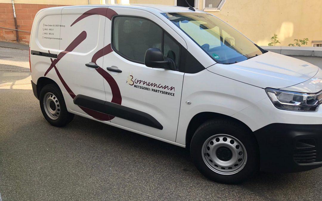 Fahrzeugbeschriftung Metzgerei Bornemann