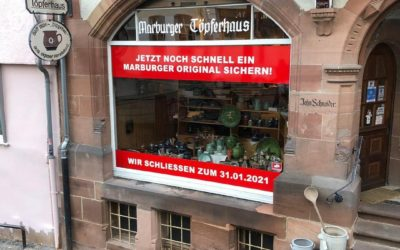 Schaufensterfolierung – Marburger Töpferhaus