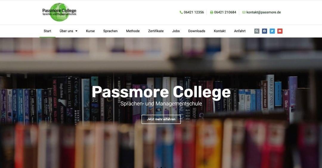 Webdesign – Passmore College