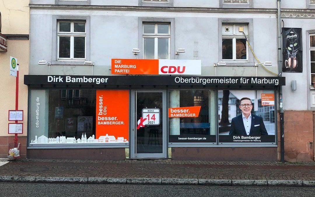 Aussenwerbung – Dirk Bamberger / CDU Marburg
